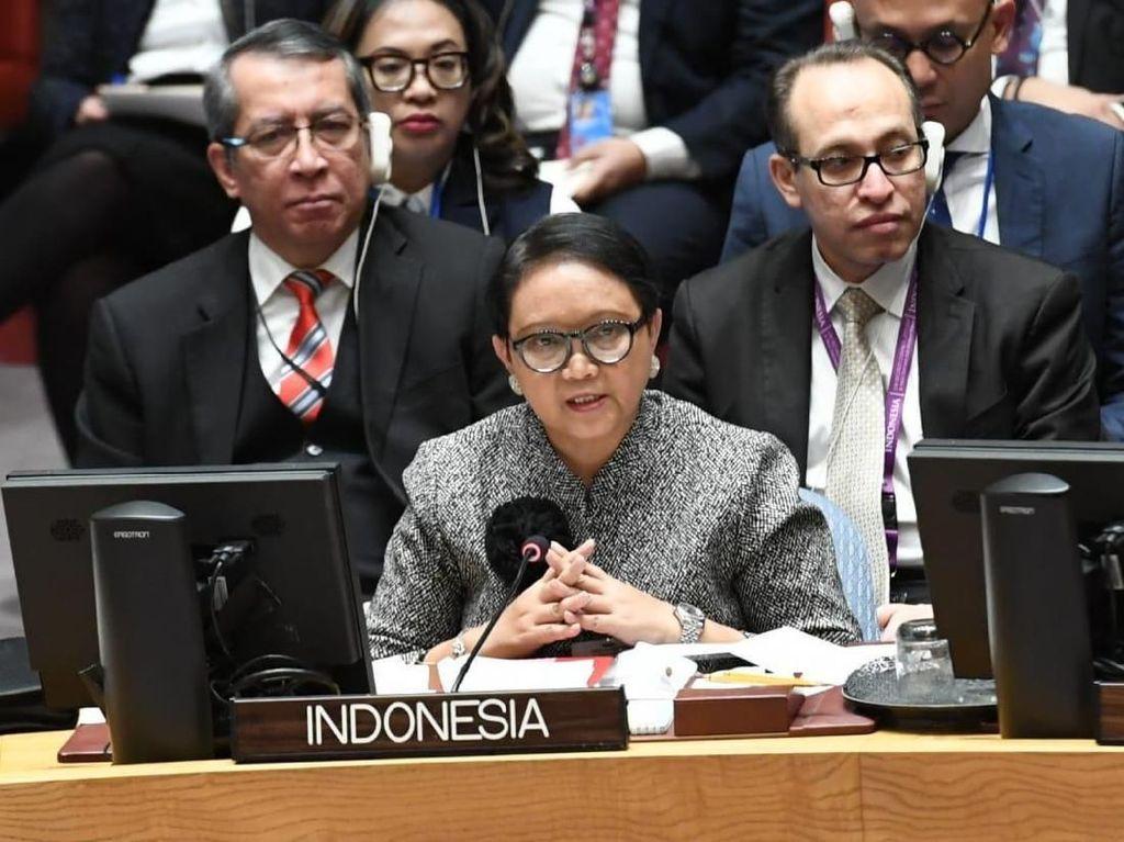 RI Calonkan Diri Jadi Dewan HAM PBB, Menlu Bicara Kemerdekaan Palestina