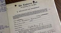 Formulir anggota The Explorers Club (Mike MacEacheran/BBC Travel)