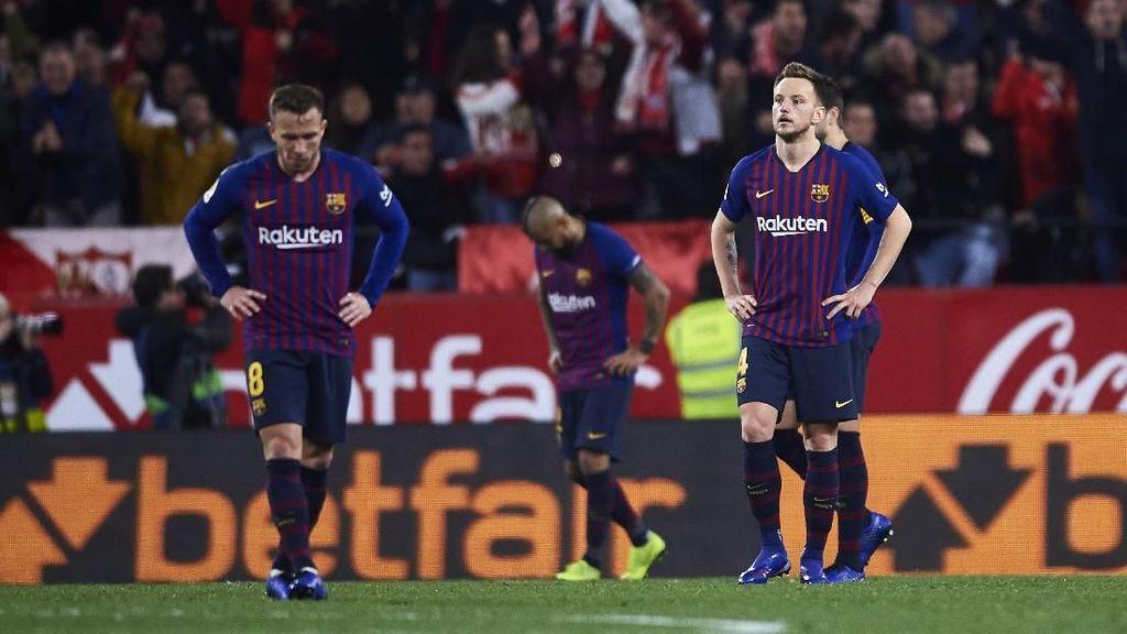Barcelona Tersungkur di Ramon Sanchez Pizjuan
