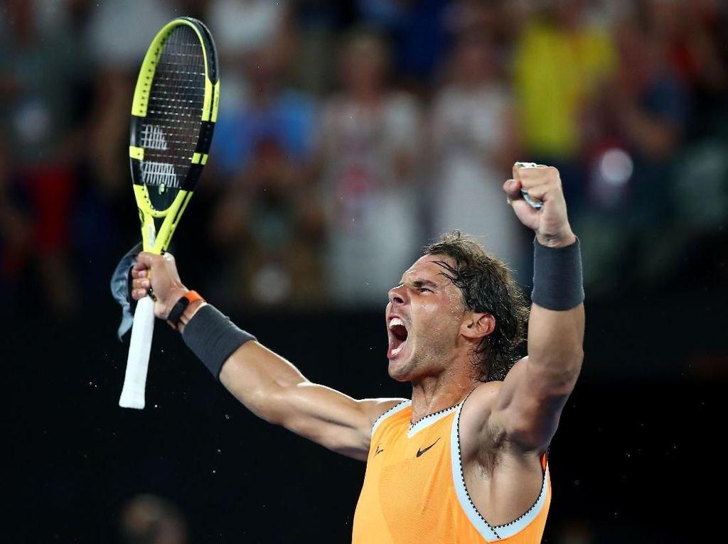 Cuma Kehilangan 6 Gim, Nadal Mulus ke Final Australia Terbuka