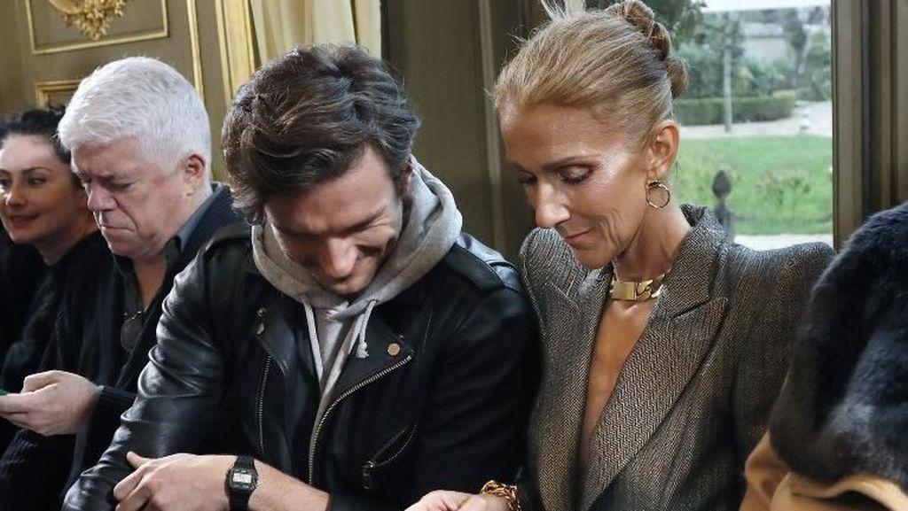 Momen Mesra Celine Dion dengan Penari Latar Tampan di Paris Fashion Week