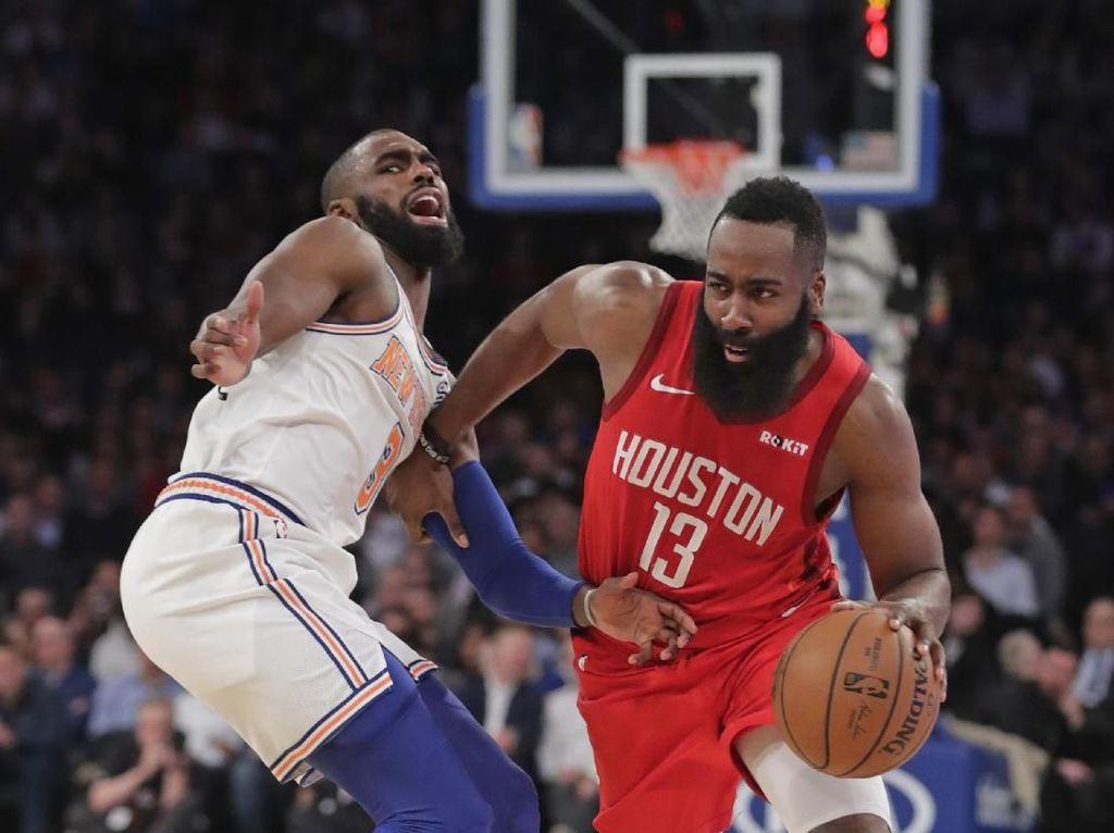 Hasil NBA: James Harden 61 Poin, Rockets Kalahkan Knicks
