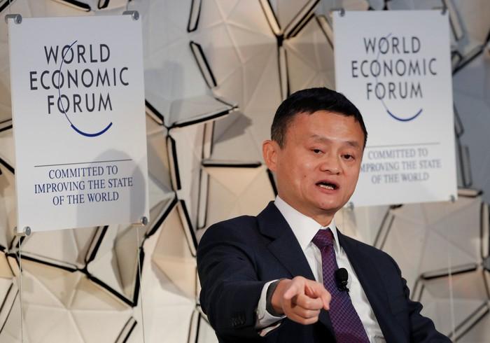 Jack Ma di Davos. Foto: Reuters