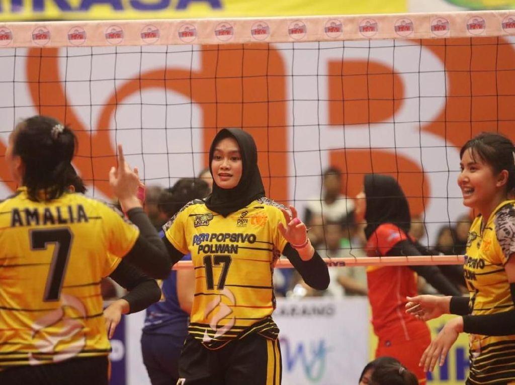 Popsivo Polwan Kalahkan BJB Pakuan 3-0 di Solo