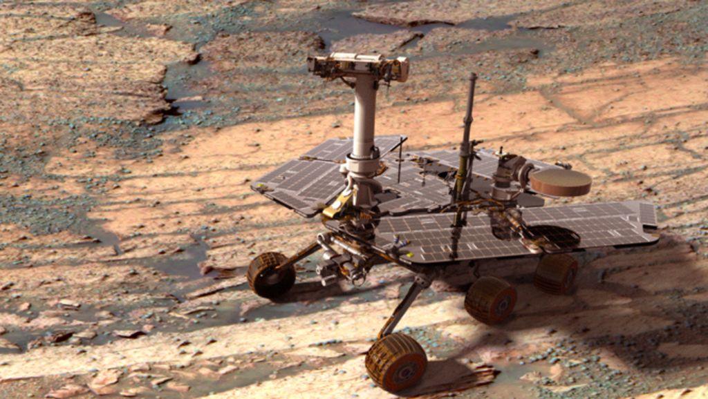 Potret Robot Opportunity yang Sekarat Setelah 15 Tahun di Mars