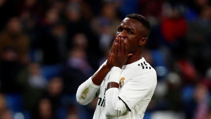 Vinicius Junior tentang tiga pelatihnya di Real Madrid sejauh ini. (Foto: Juan Medina/Reuters)