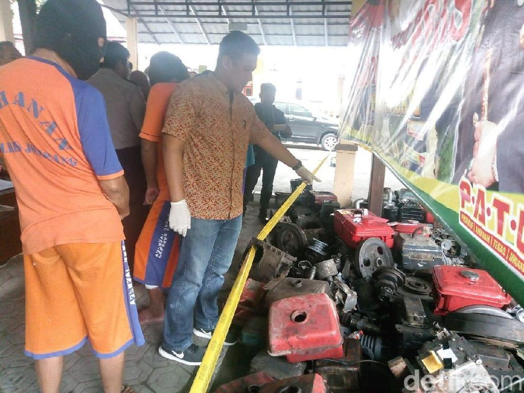 Komplotan Spesialis Pencuri Pompa Air di 32 TKP Dibekuk
