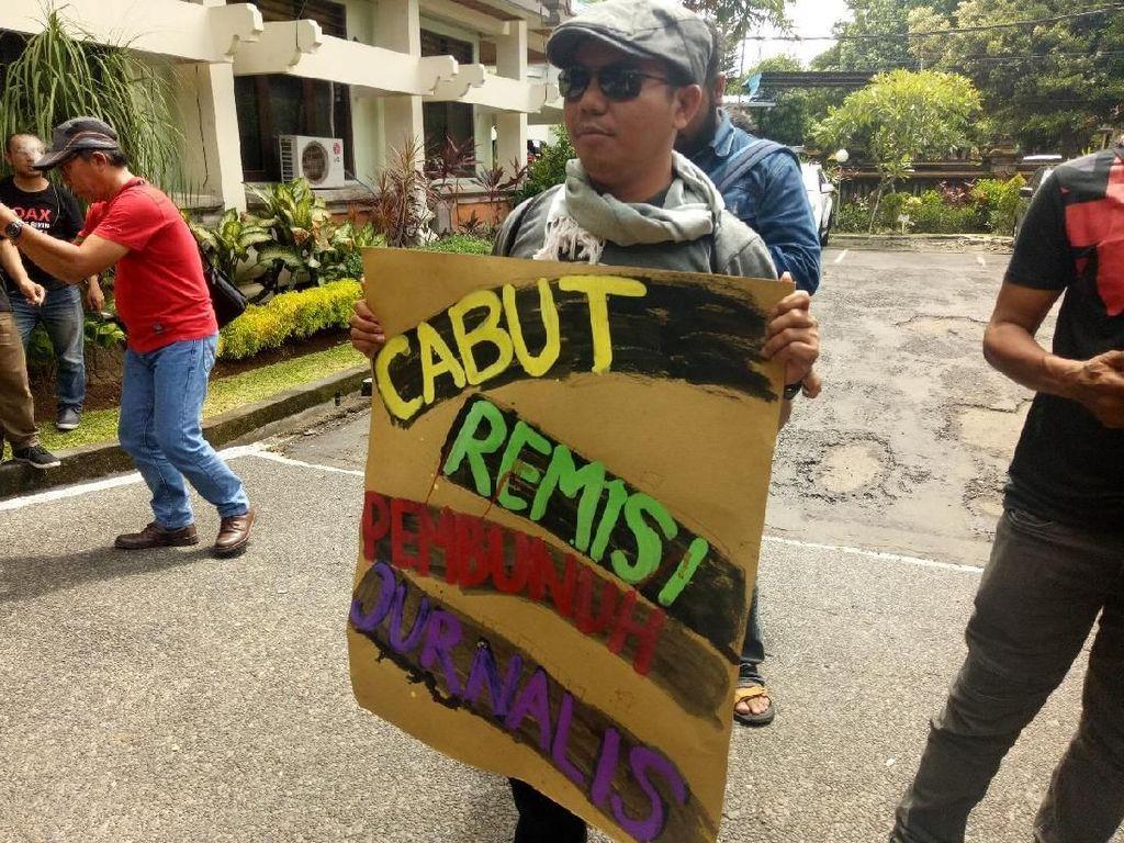 Kasus Wartawan Radar Bali Dibunuh, Istri Ikut Aksi Tolak Remisi