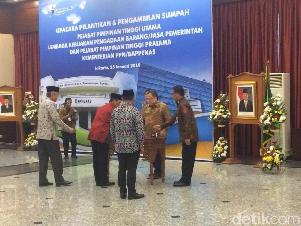 Lantik Kepala LKPP, Menteri PPN: Belanja Numpuk di Akhir Tahun