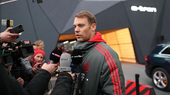 Manuel Neuer yakin Bayern Munich sanggup menyalip Borussia Dortmund. Foto: Christian Kaspar-Bartke/Getty Images for AUDI