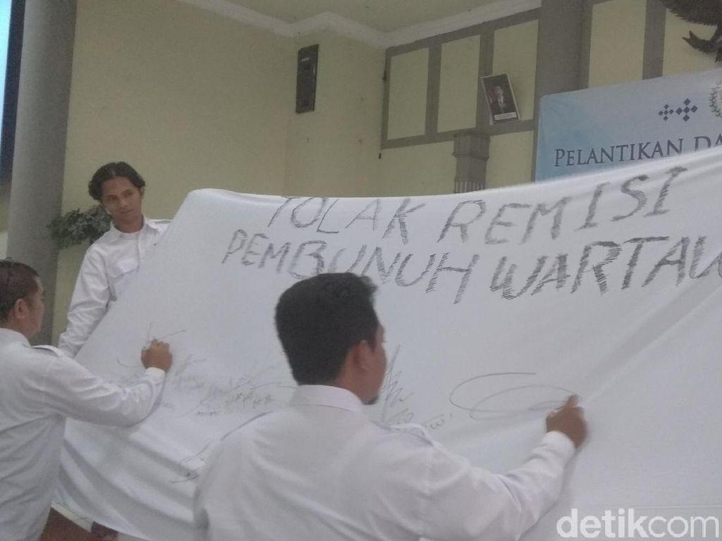 Jurnalis Karawang Tolak Remisi Pembunuh Wartawan