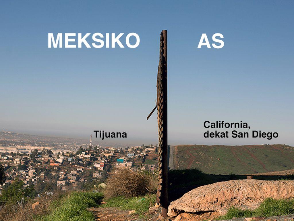 Ribut-ribut Soal Tembok, Begini Situasi Perbatasan AS-Meksiko