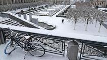 Kala Taman di Brussels Memutih Karena Salju