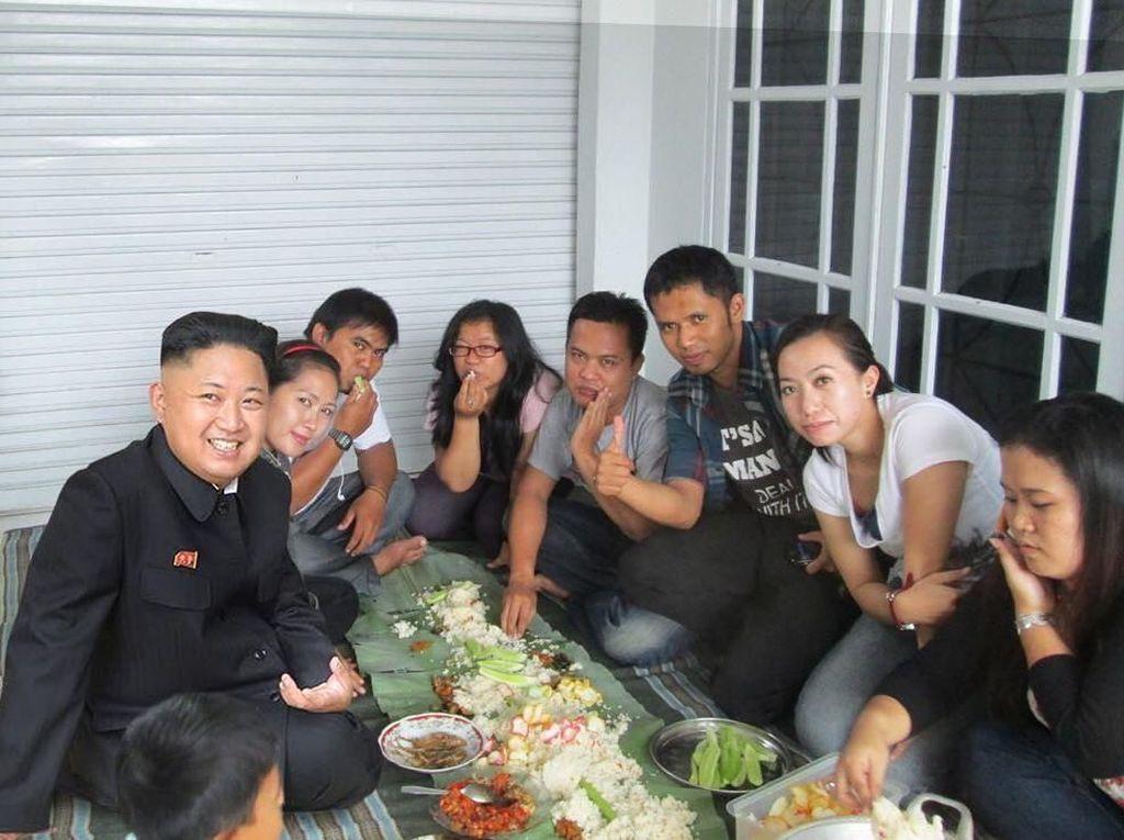 Begini Nih Jadinya Kalau Kim Jong Un Liwetan hingga Curi Makan Donald Trump