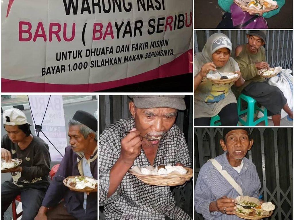 Di Warung Nasi Ini Bayar Rp 1.000 Bisa Makan Sepuasnya