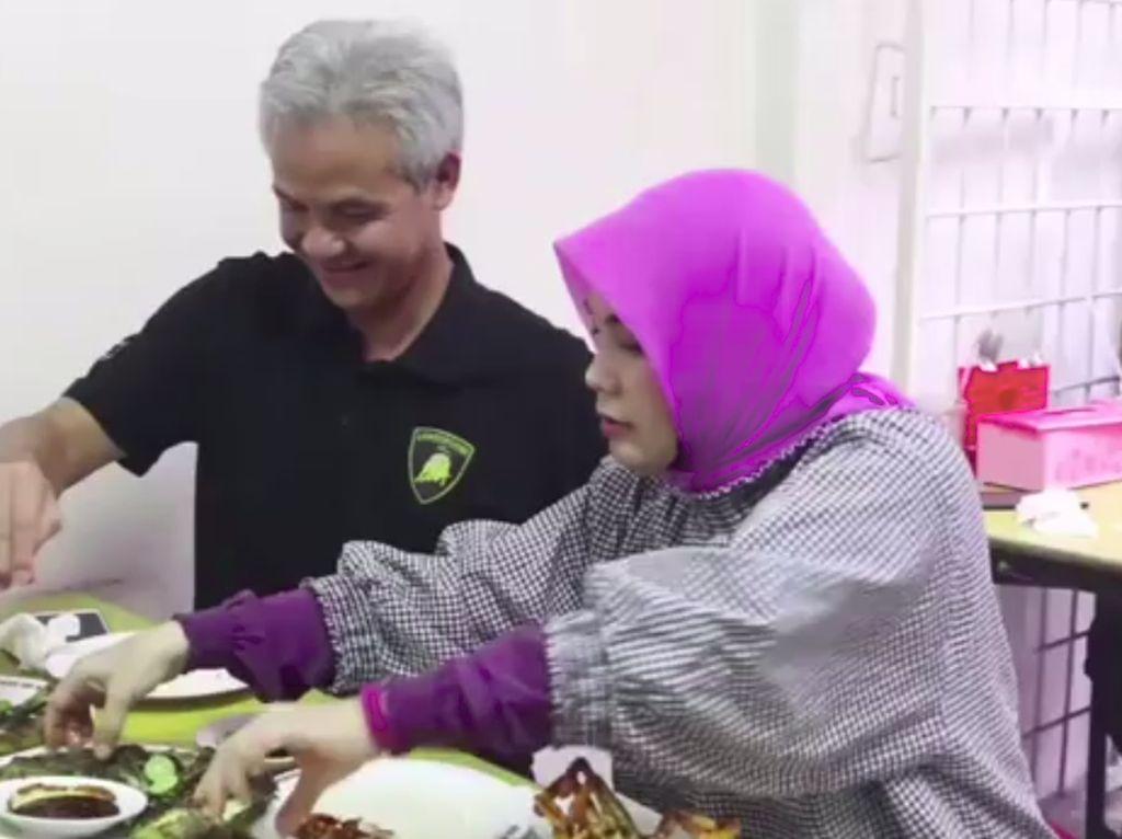 Ke Jakarta, Ganjar Pranowo dan Atikoh Cicip Seafood di Kawasan Santa