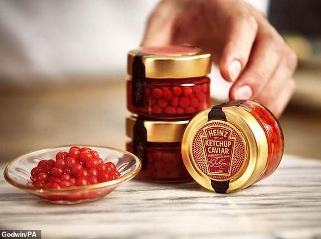 Versi Mewah, Saus Tomat Ini Berbentuk Seperti Kaviar