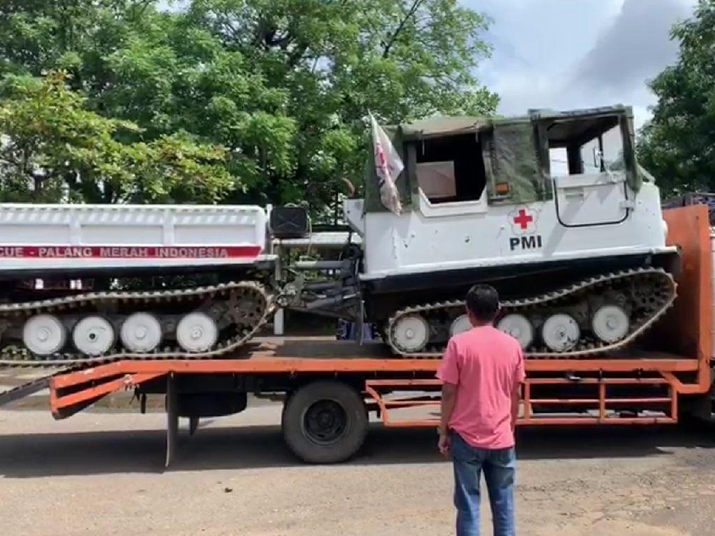 PMI Kerahkan Hagglunds untuk Evakuasi Korban Longsor Gowa