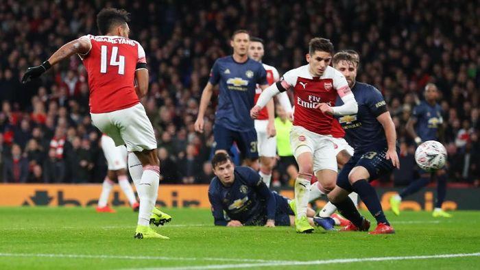 Manchester United vs Arsenal di pekan ketujuh Liga Inggris. (Foto: Catherine Ivill/Getty Images)