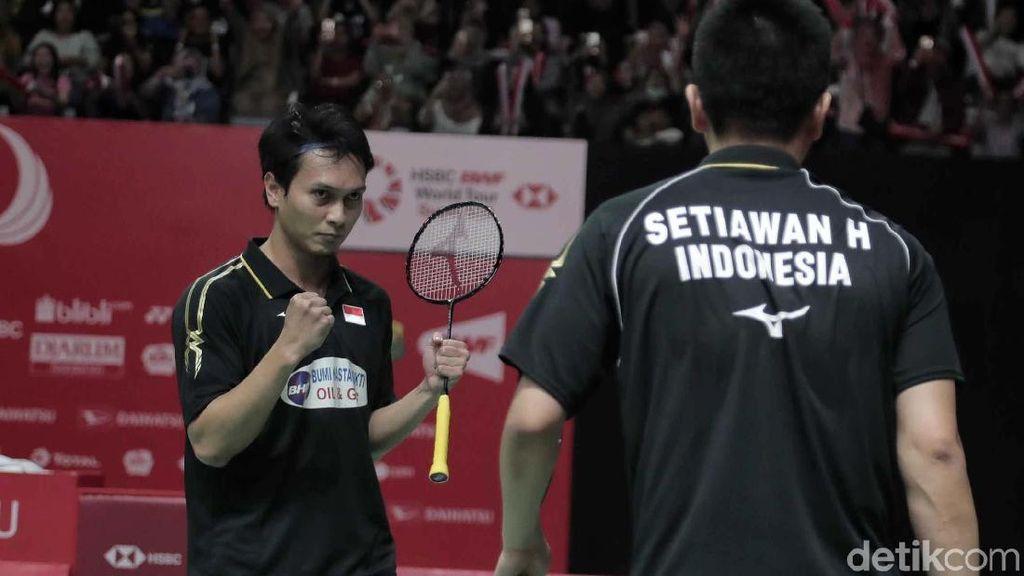 Gebuk Ganda China, Hendra/Ahsan ke Final Indonesia Masters 2019