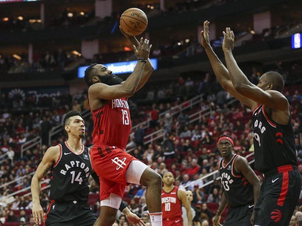 Hasil NBA: Rentetan 30 Poin Harden Lanjut, Rockets Kalahkan Raptors