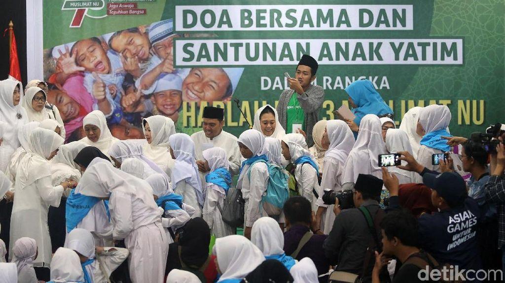 Jelang Harlah ke-73, Muslimat NU Doa Bersama Anak Yatim