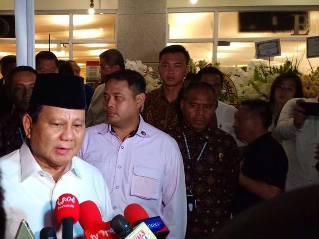 Prabowo: Saya Kenal Eka Tjipta Widjaja Sejak Muda, Beliau Pengusaha Sukses