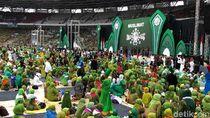 Tiba di Acara Harlah Ke-73 Muslimat NU, Jokowi Disambut Selawat