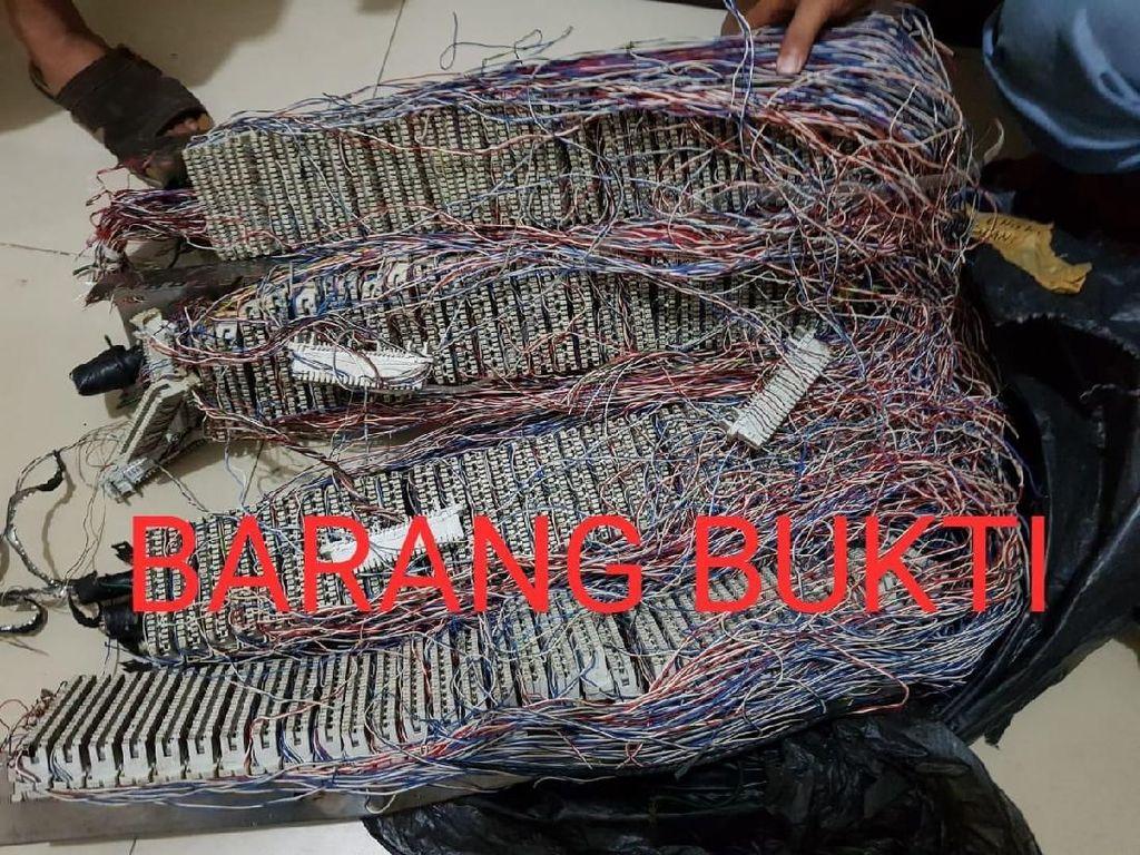 Polisi Tangkap Komplotan Pencuri Kabel Telkom di Kalbar