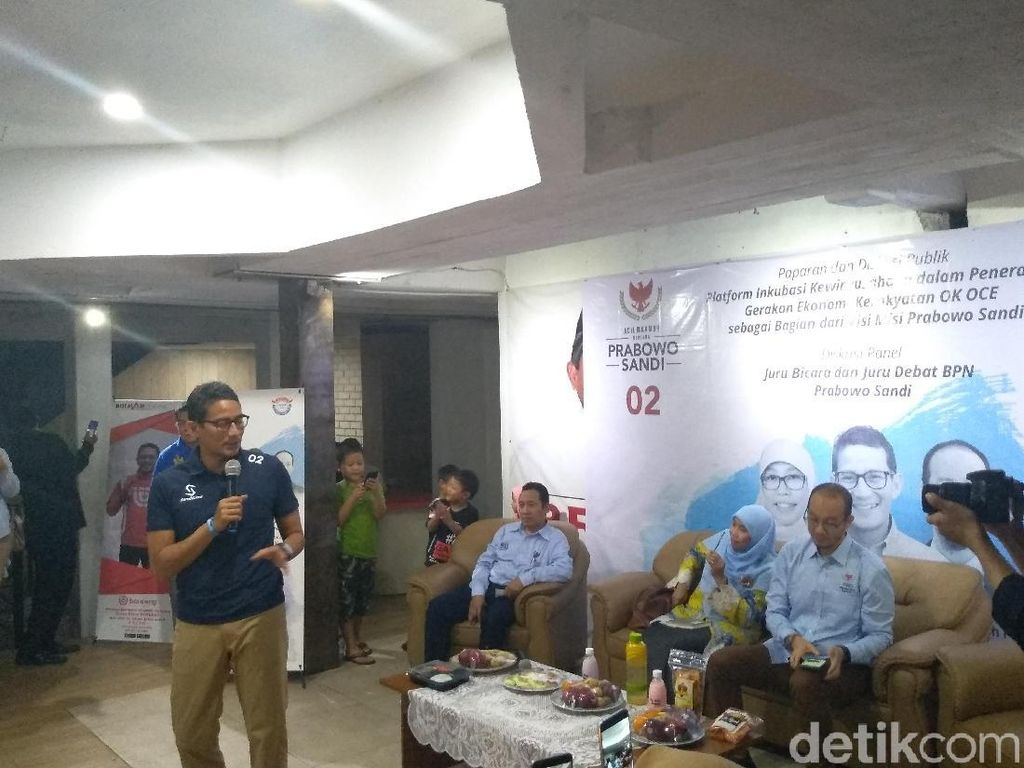 Sandiaga Luncurkan Gerak OK OCE Nasional