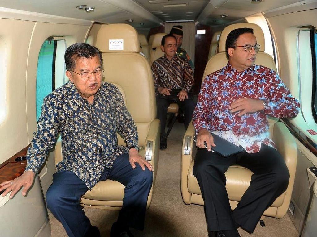 Pantau DKI dari Heli, JK: Belakang Jalan Thamrin dan Tanjung Priok Kumuh