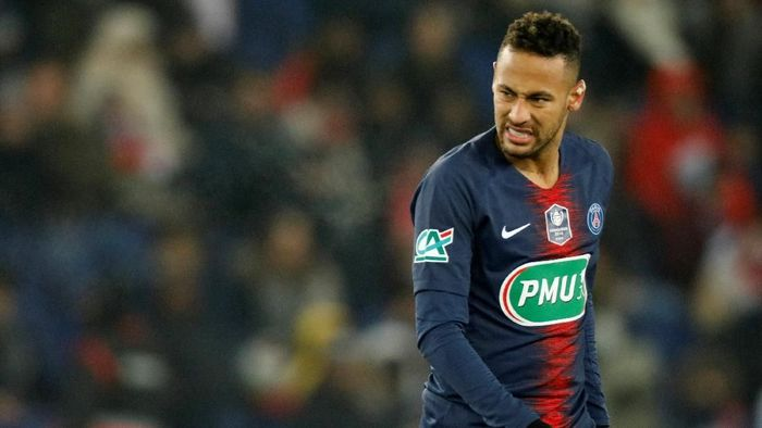 Komentar Neymar saat PSG Disingkirkan Manchester United di Liga Champions diselidiki UEFA. (Foto: Charles Platiau/Reuters)