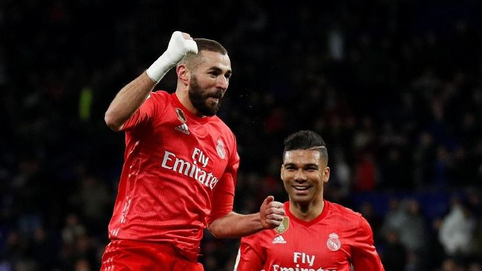 Striker andalan Real Madrid, Karim Benzema. (Foto: Albert Gea/Reuters)