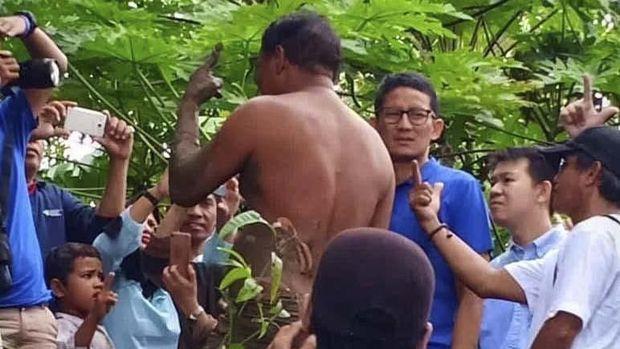 Bantah Sandiwara, BPN Sebut Warga Mengelap Lumpur ke Badan