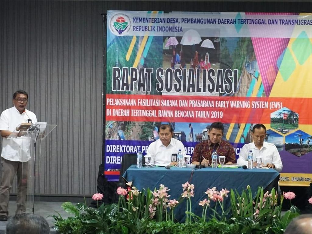 Kemendes Akan Bangun Sistem Peringatan Dini Bencana di 5 Kabupaten
