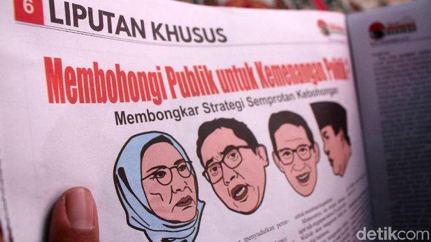 Salah satu halaman dalam tabloid 'Indonesia Barokah'.