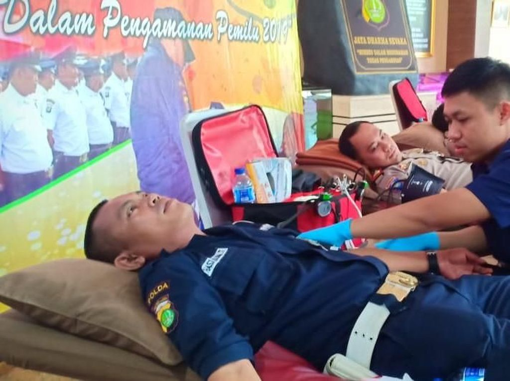 Peringati HUT Satpam, Polda Metro Gelar Donor Darah