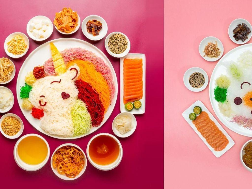Biskuit Bak Kwa dan Yusheng Unicorn Khas Singapura Untuk Imlek
