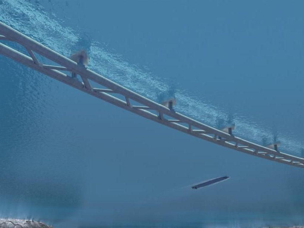 Foto: Rancangan Terowongan Mengambang Bawah Laut di Norwegia