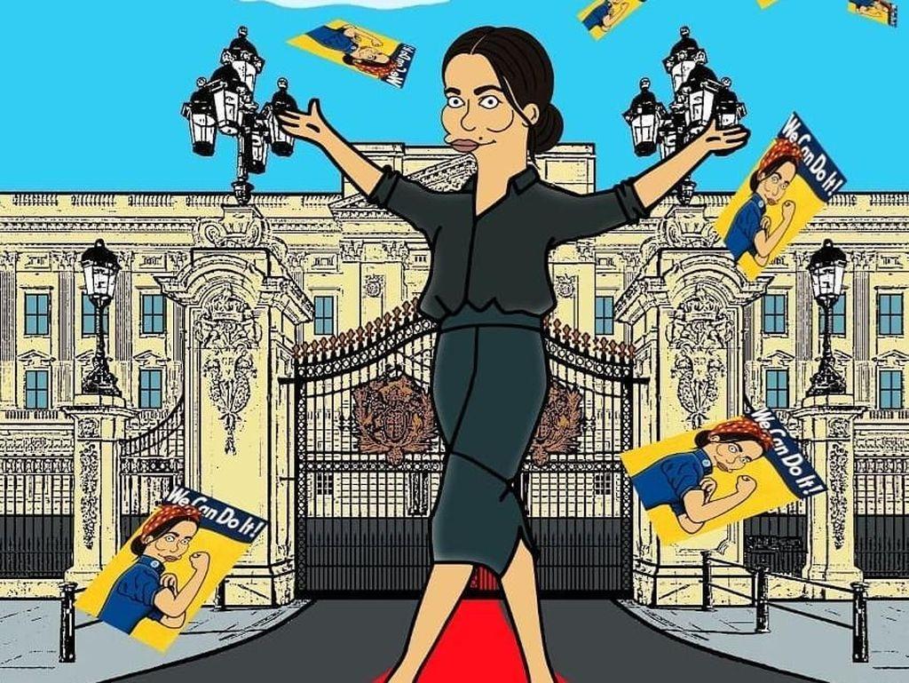 Begini Penampakkan Meghan Markle Saat Jadi Karakter The Simpsons