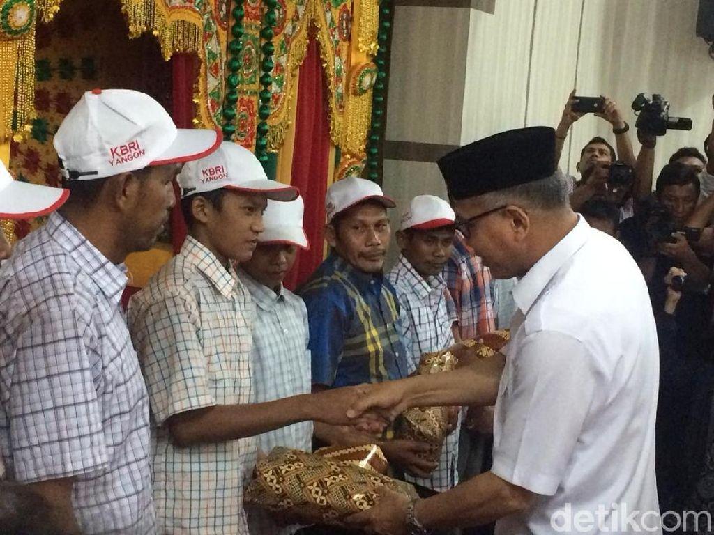 14 ABK Asal Aceh yang Dituduh Curi Ikan di Myanmar Dipulangkan