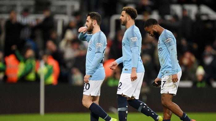 Manchester City usai tersandung di Liga Inggris. (Foto: Stu Forster/Getty Images)