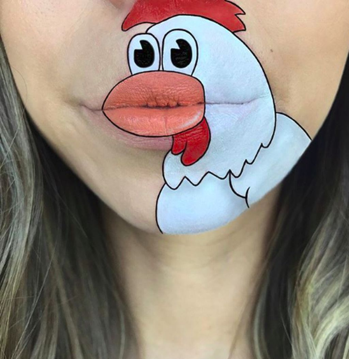Meski sederhana namun lukisan namun gambar yang dilukis harus sesuai dengan bentuk bibir Laura agar serasi. (Foto: Instagram/Laura Jenkinson)
