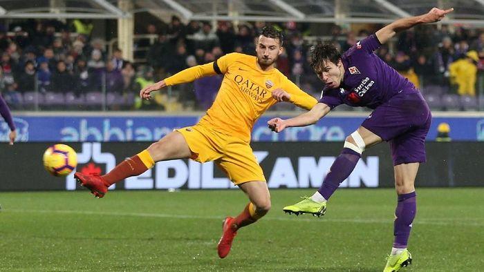 Fiorentina lolos ke semifinal Coppa Italia usai menghajar AS Roma 7-1 (Foto: Gabriele Maltinti/Getty Images)