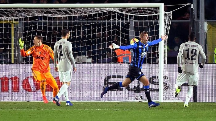 Juventus disingkirkan Atalanta di perempatfinal Coppa Italia (Foto: Massimo Pinca/Reuters)
