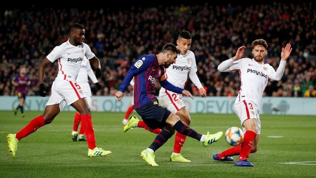 Kalahkan Sevilla 6-1, Barcelona ke Semifinal Copa del Rey