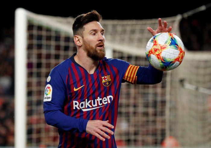 Barcelona membalikkan ketertinggalan dua gol dari Sevilla dan lolos ke semifinal Copa del Rey. Pada leg kedua, Los Cules menang telak 6-1. REUTERS/Albert Gea.