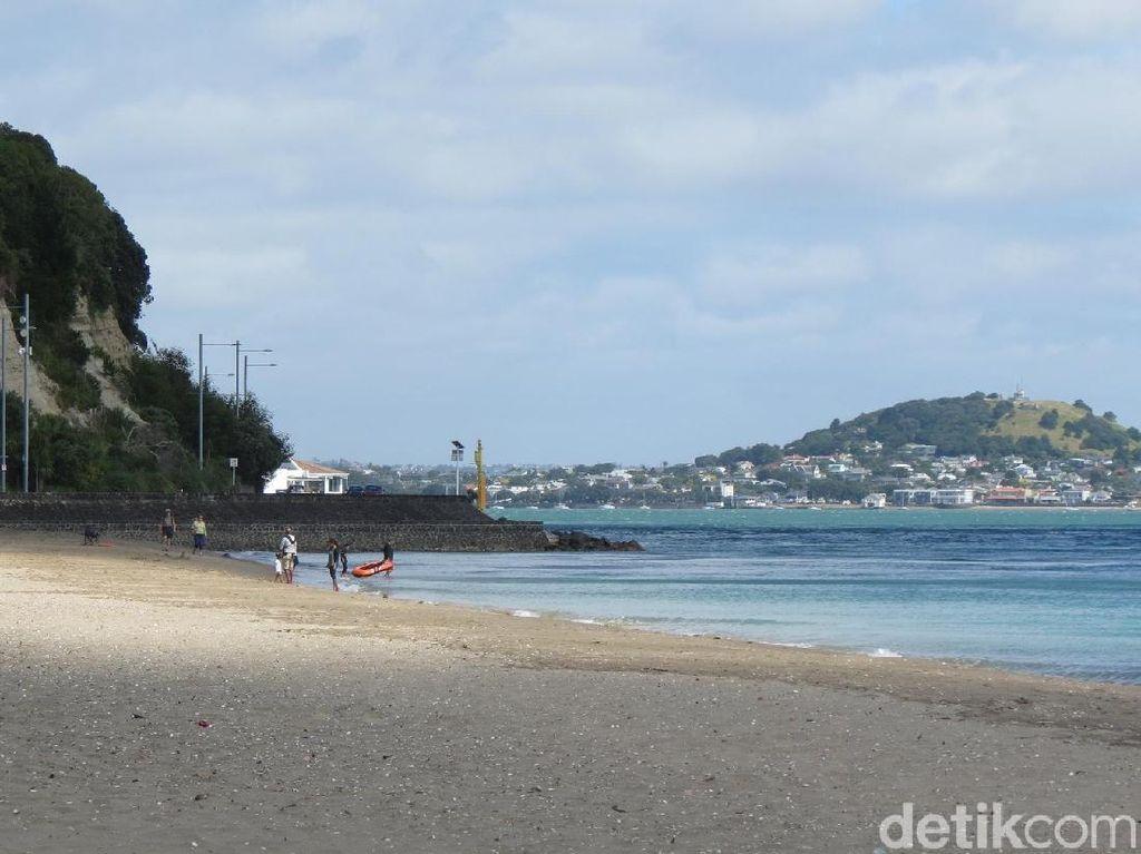 Foto: Pantai Mission Bay yang Cantik di Auckland