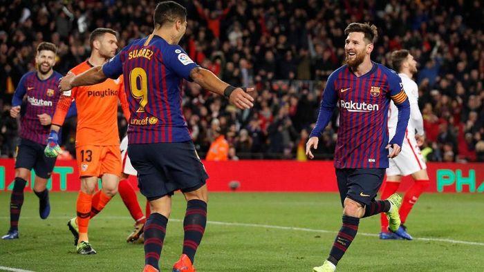 )Luis Suarez percaya Lionel Messi masih akan bermain bertahun-tahun lagi. (Foto: REUTERS/Albert Gea)
