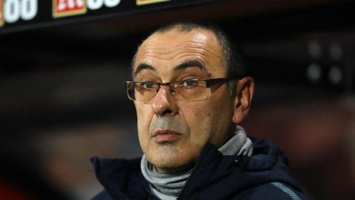 Manajer Chelsea yang dikaitkan dengan Juventus, Maurizio Sarri, (Foto: Warren Little/Getty Images)